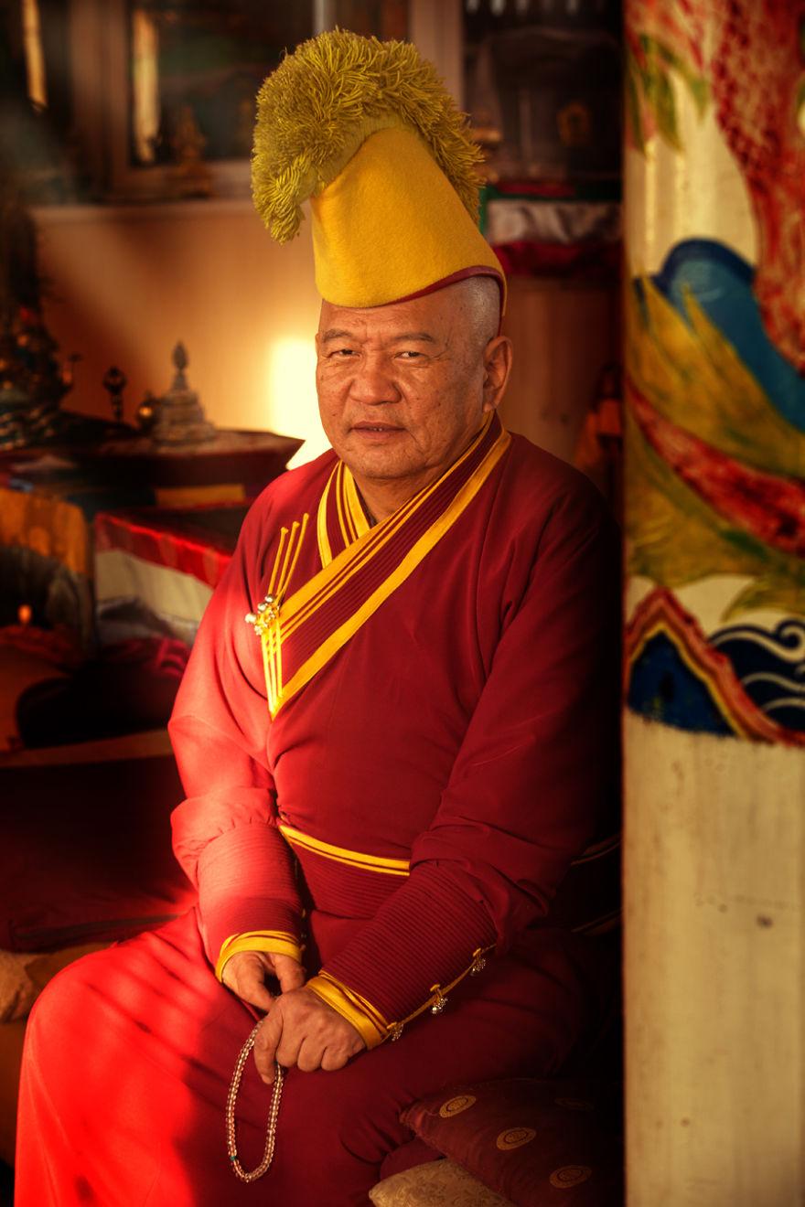 Бурятский монах школы Гелугпа.