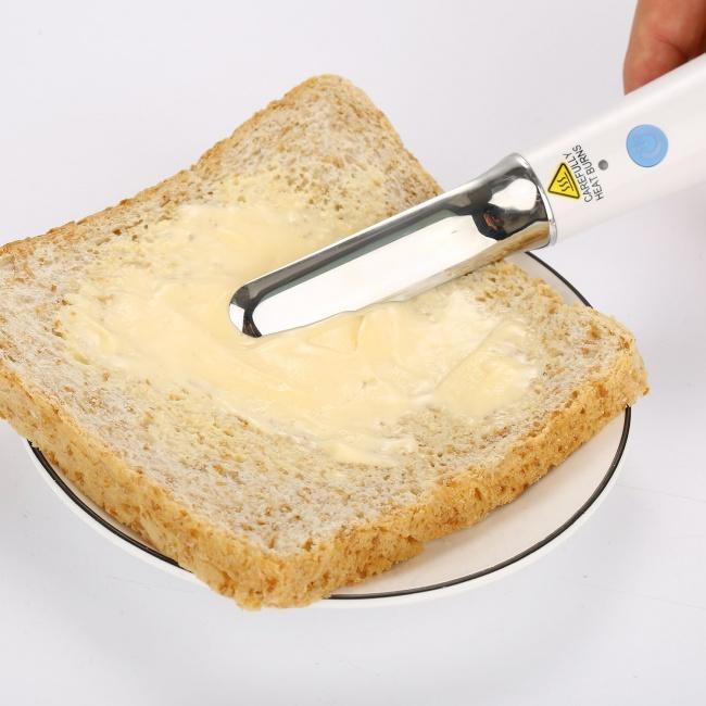© amazon  Поидее, этот удивительный нож призван заменить тостер. Впроцессе нарезки хлеба тем