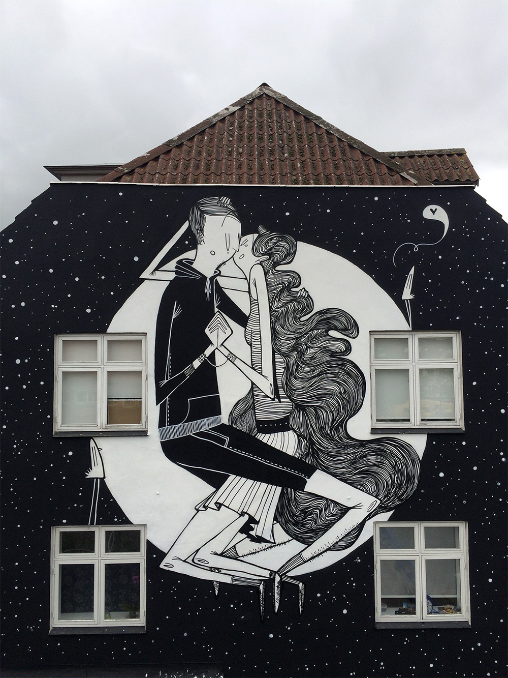 Funny Black & White Mural Artworks