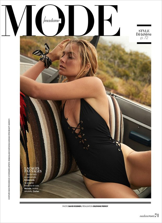 Australian model Bridget Malcolm teams up with fashion photographer David Roemer at Atelier Manageme