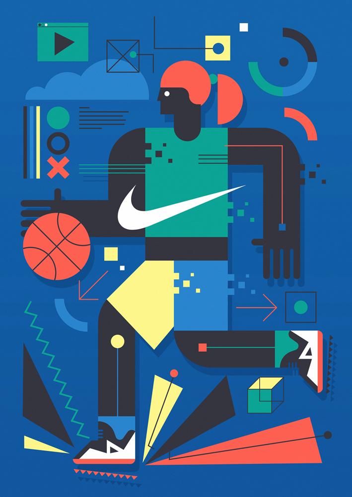 Nike Wall Mural by Neil Stevens (6 pics)