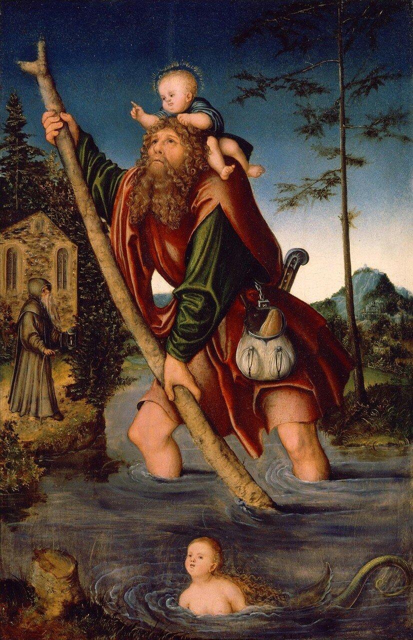 Святой Христофор (Saint Christopher)_1518-1520_41.9 х 27.9_д.,м._Детройт, Институт искусства.jpg
