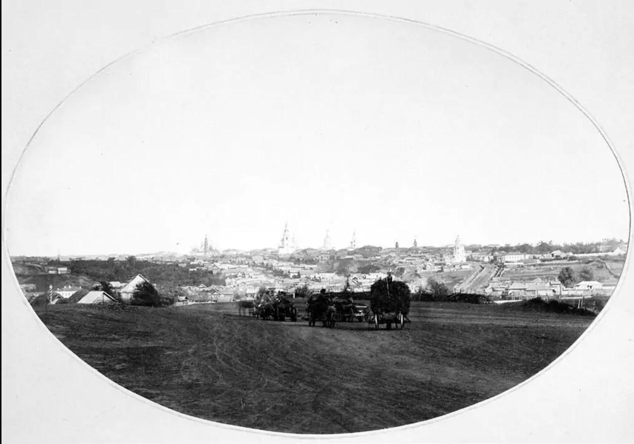 1867. Вид Симбирска со стороны Свияги