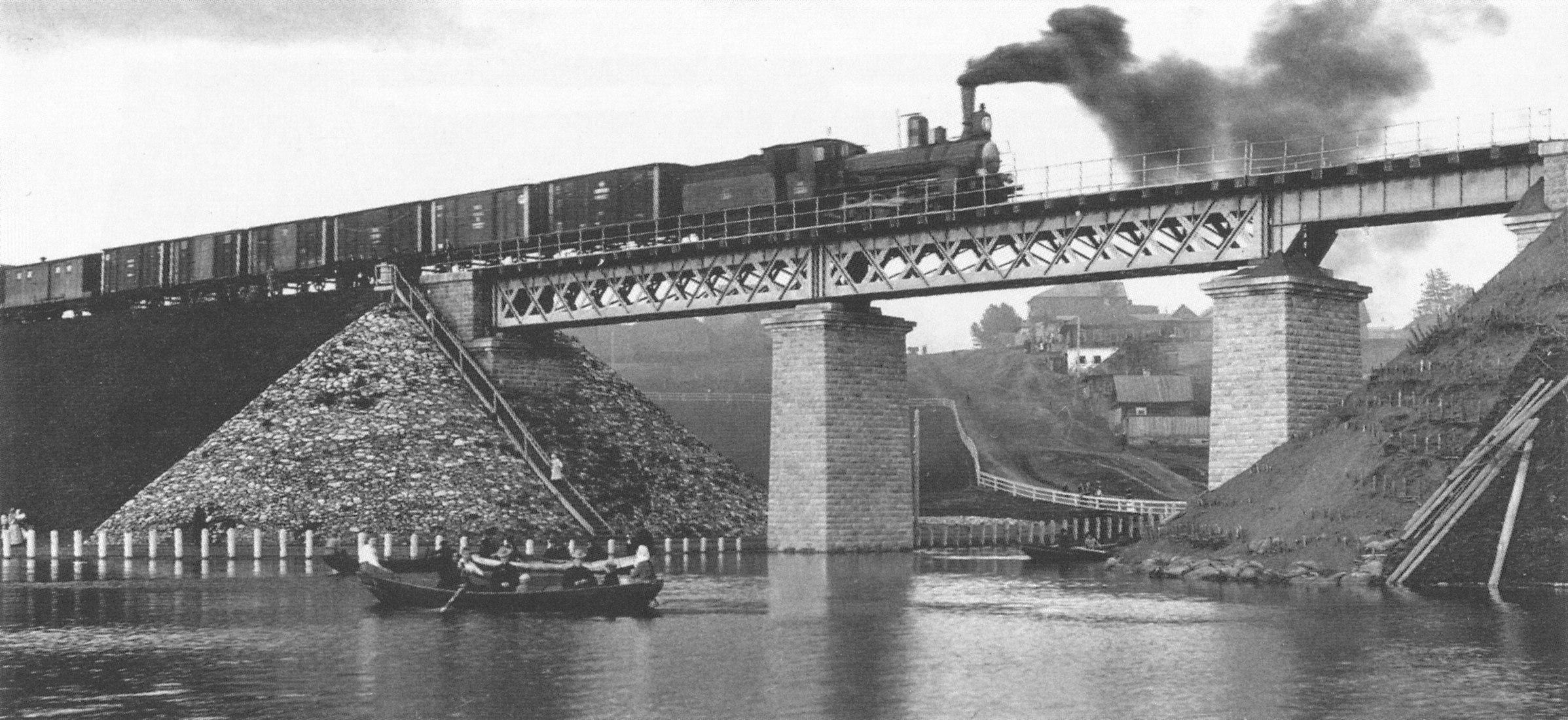 Окрестности Перми. Железнодорожный мост через реку Данилиха