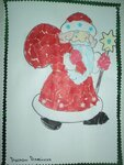 Алейник Руслан (рук. Никулкина Галина Владимировна) - Дед Мороз и Снегурочка (обрывная аппликация)