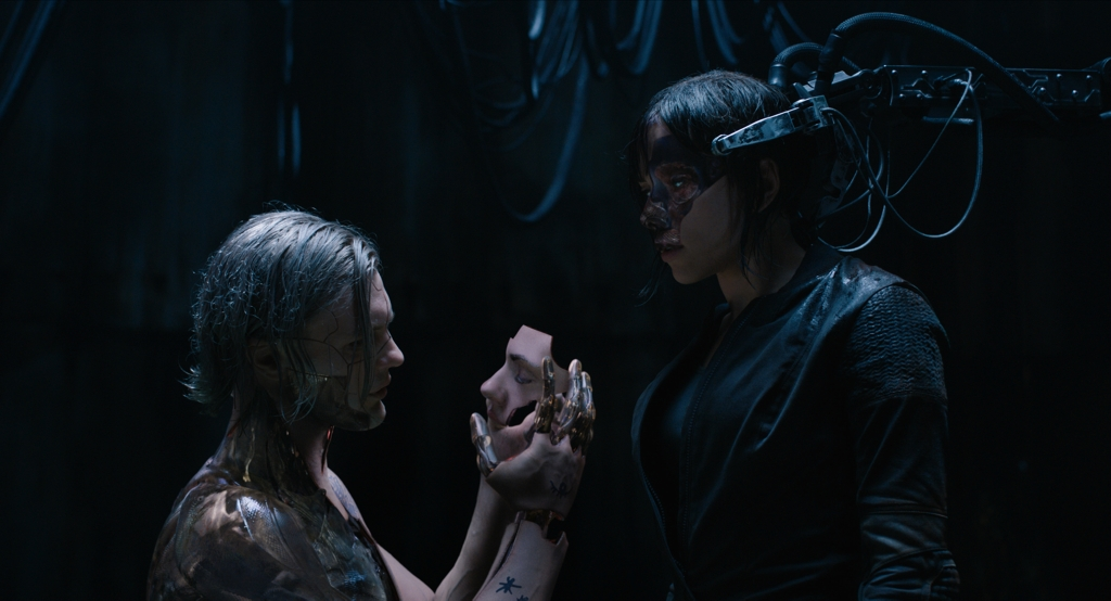 Michael Carmen Pitt plays Kuze and Scarlett Johansson plays The Major in Ghost in the Shell from Paramount Pictures and DreamWorks Pictures in theaters March 31, 2017.