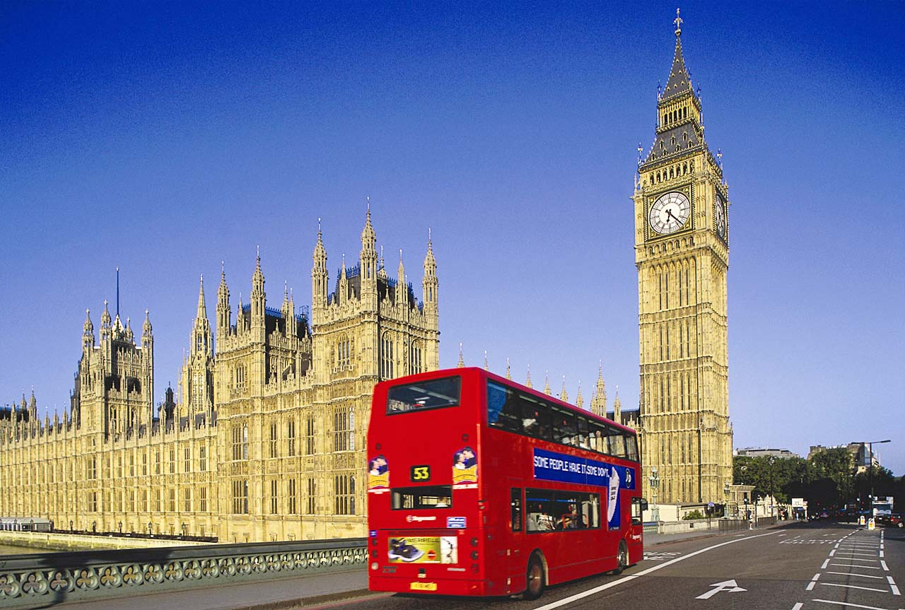 Биг-Бен с двойным автобусом(1280)