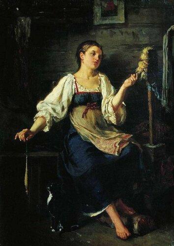 Журавлев Фирс Сергеевич «Пряха», (1864)