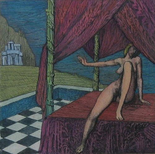 Ernst Fuchs Дана Danae