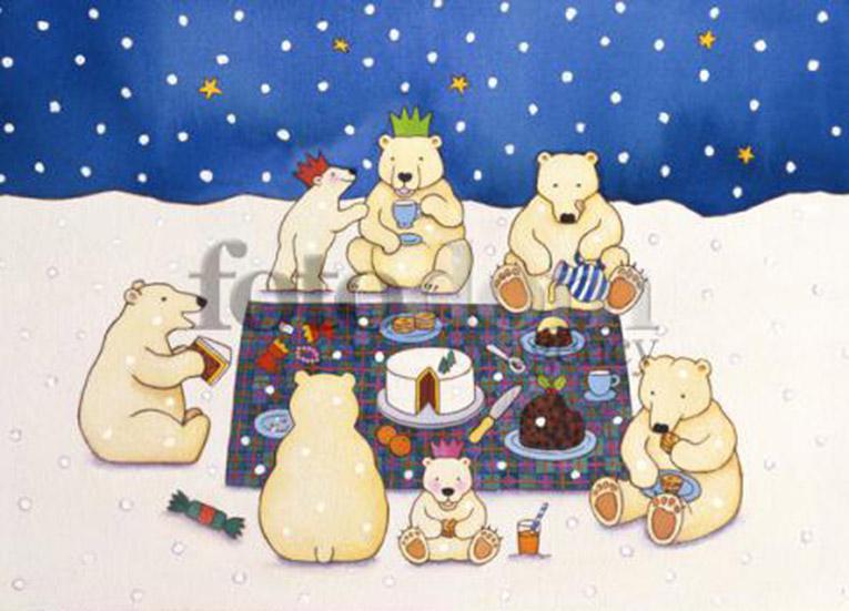 Открытки. День полярника России 21 мая. Белые медведи