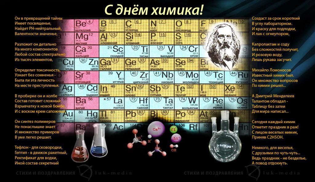 С Днем Химика! Стихи, посвященные празднику открытки фото рисунки картинки поздравления