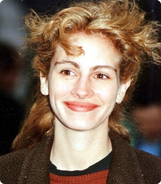 В 1990 Джулия Робертс часто экспериментировала со своими волосами.