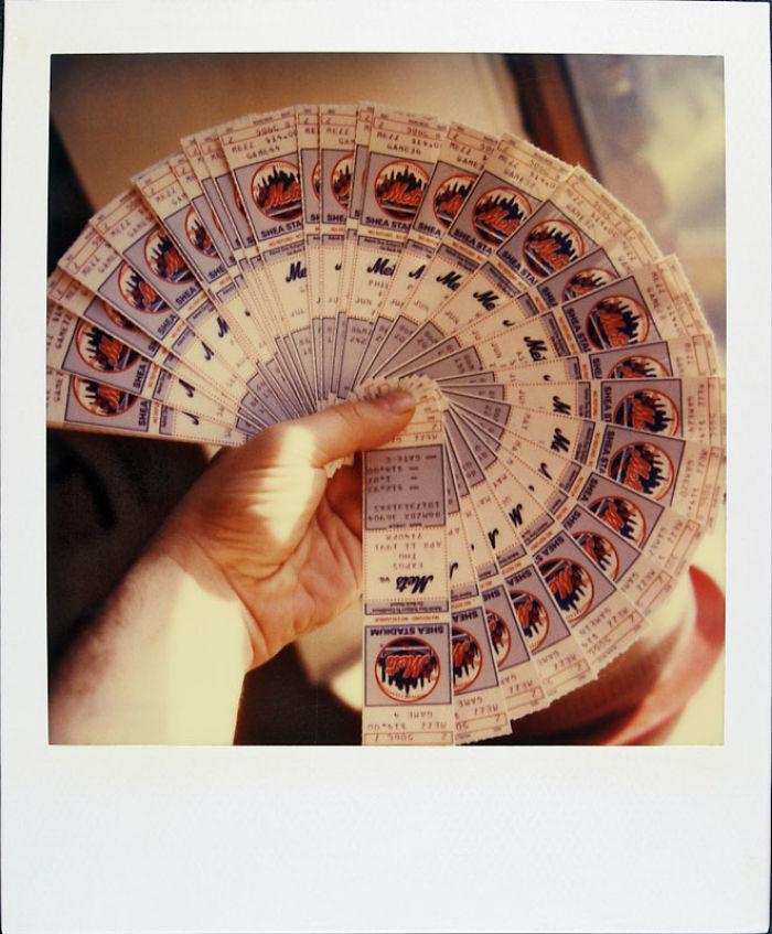 9 апреля 1991 года: билеты на бейсбол.