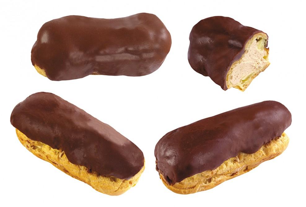 Пирожное «Эклер» Эклер со сливочным кремом и шоколадной глазурью — одно из любимых пирожных советско