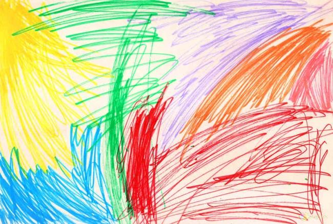 11. Буйство красок набумаге или известная картина «Земляные черви»?