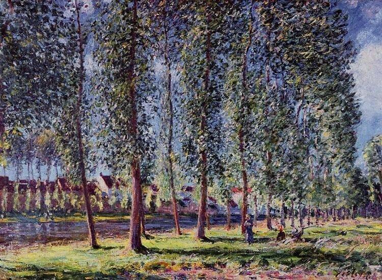 Sisley_lane-of-poplars-at-moret-1888