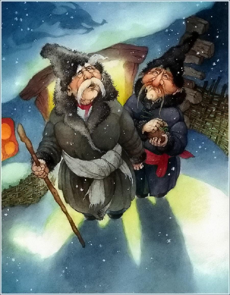 Ночь перед Рождеством в иллюстрациях Ольги Ионайтис