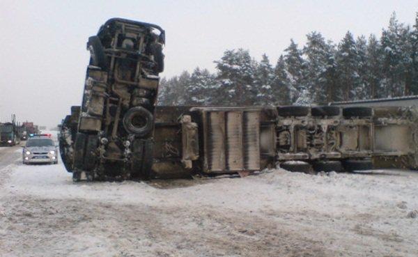 Натрассе «Дон» из-за снегопада погибли три человека