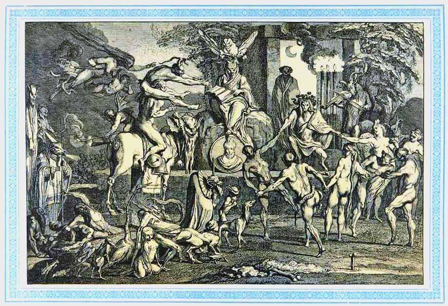 Стариная гравюра. Илл. из 4 т. «История танцев» С.Н. Худекова.