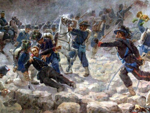 Сардинцы в бою
