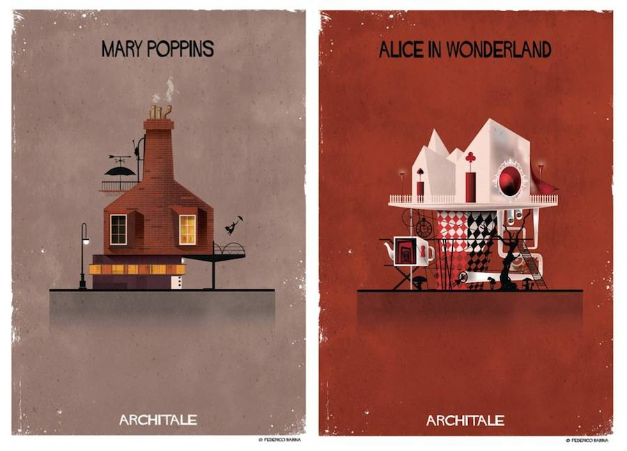 Illustrations of the House of Famous Fairytales Characters
