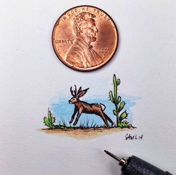 18 illustrations miniatures de Sam Larson