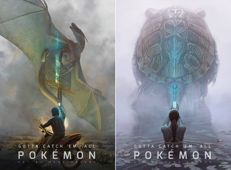 Pokemon Tribute - Les superbes illustrations de Dane Cozens