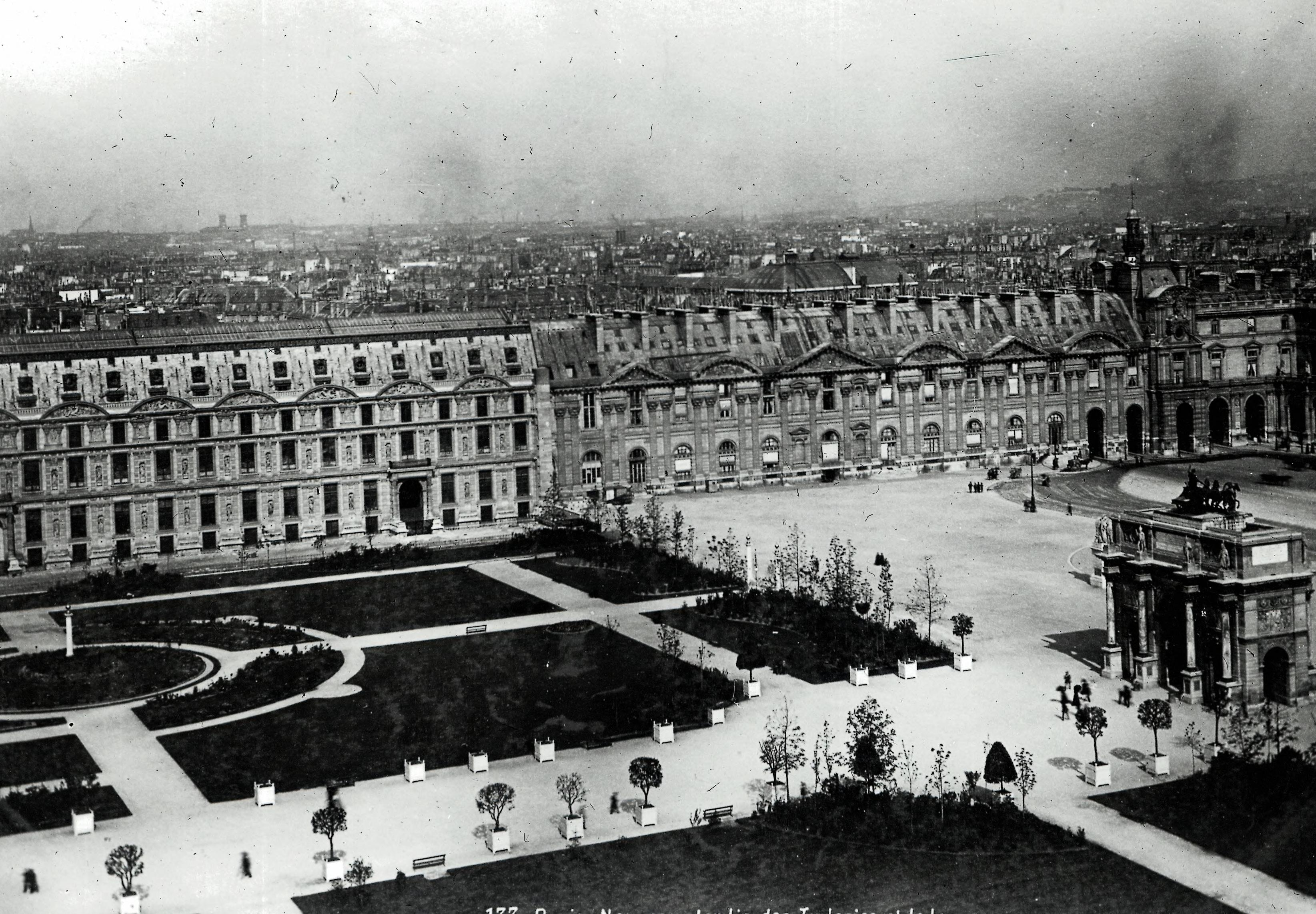 Сад Тюильри и Лувр