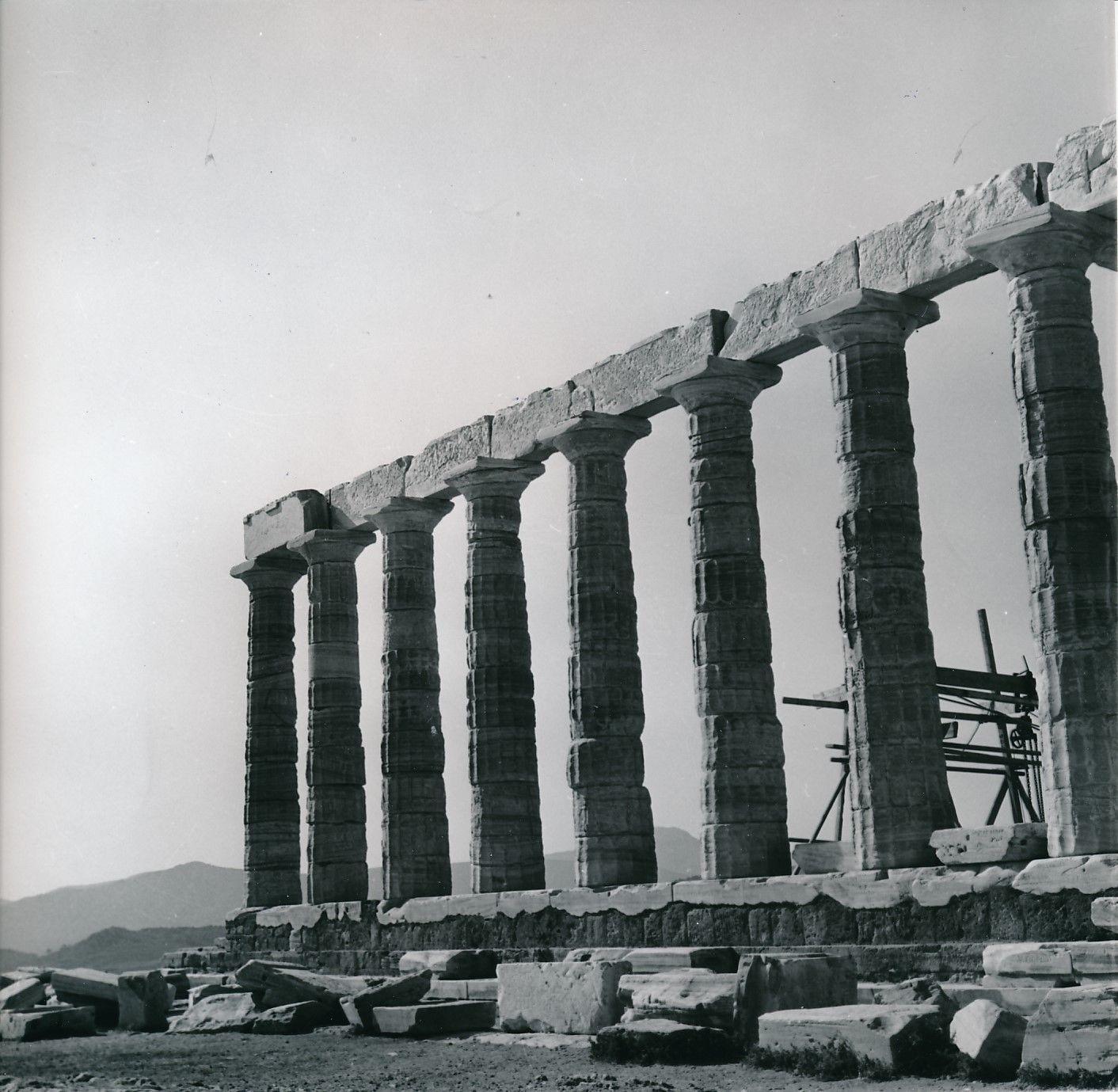 1960. Мыс Сунион. Храм Посейдона