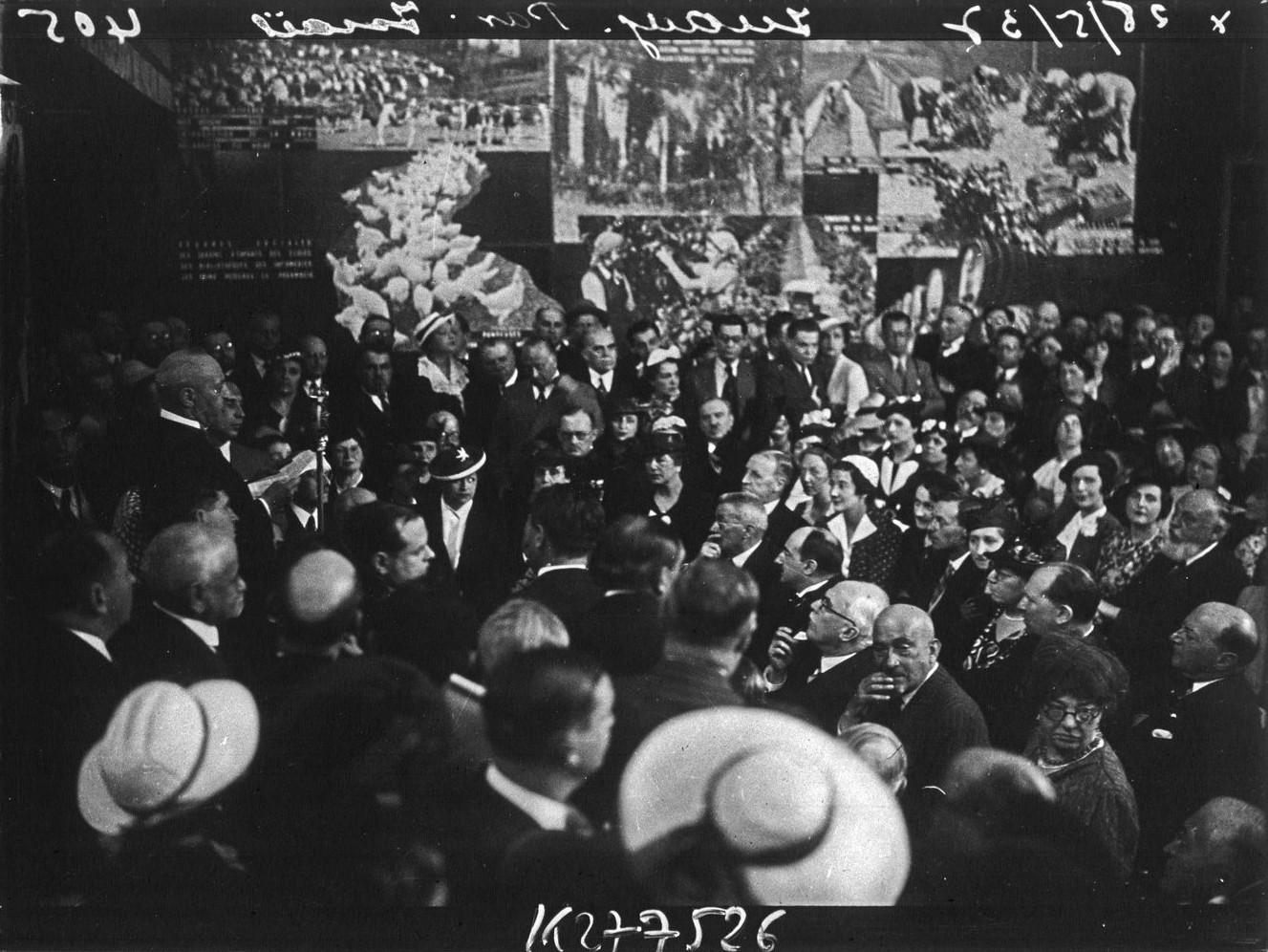 Торжественное открытие павильона Израиля-Палестины. 23 мая 1937