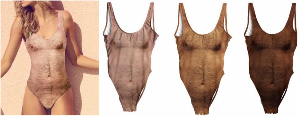 Последний писк моды: купальники с принтом мужской груди