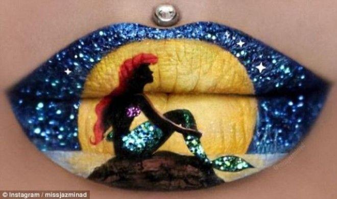 Эта женщина превратила свои губы в произведение искусства!