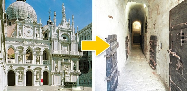 © nps  © Mario/flickr  Под крышей венецианского Дворца дожей находится тюрьма, вкоторой