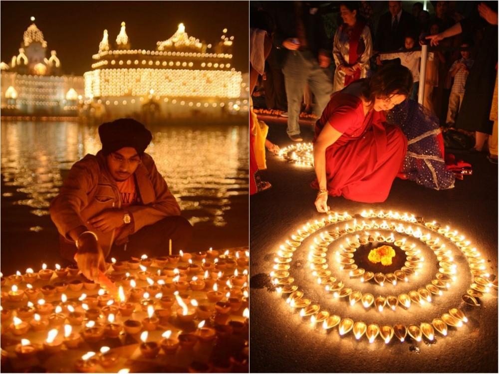 19. Индийский праздник света Дивали.
