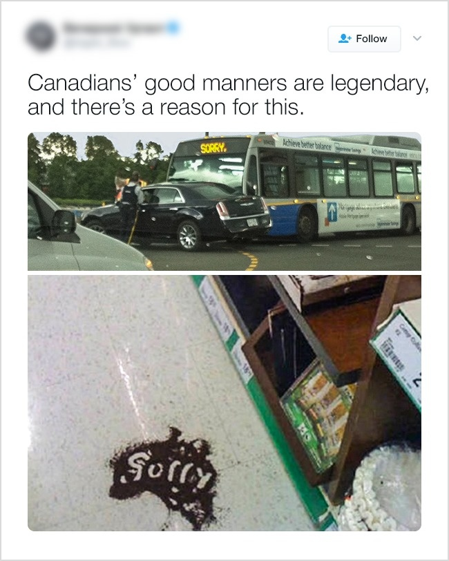 О хороших манерах канадцев ходят легенды.