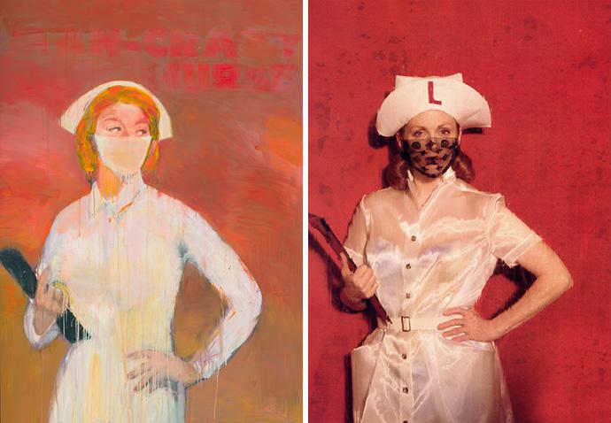 «Загородная медсестра №3» (2003) Ричарда Принса, в Louis Vuitton.
