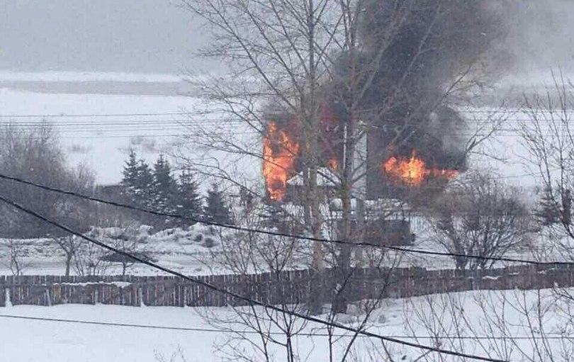20-метровый ресторан-корабль дотла сгорел вЗлатоусте