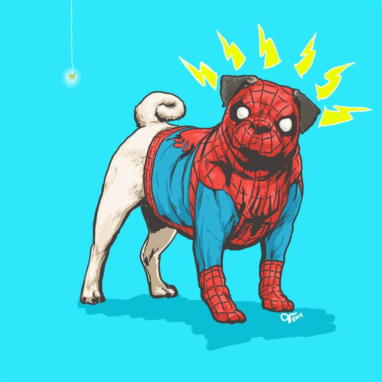 Marvel Dogs - When an illustrator transforms the superheroes into cute dogs