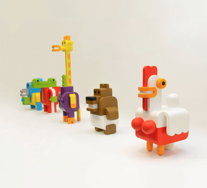 Minimals: Modular Toy Animals by Sebastian Burga