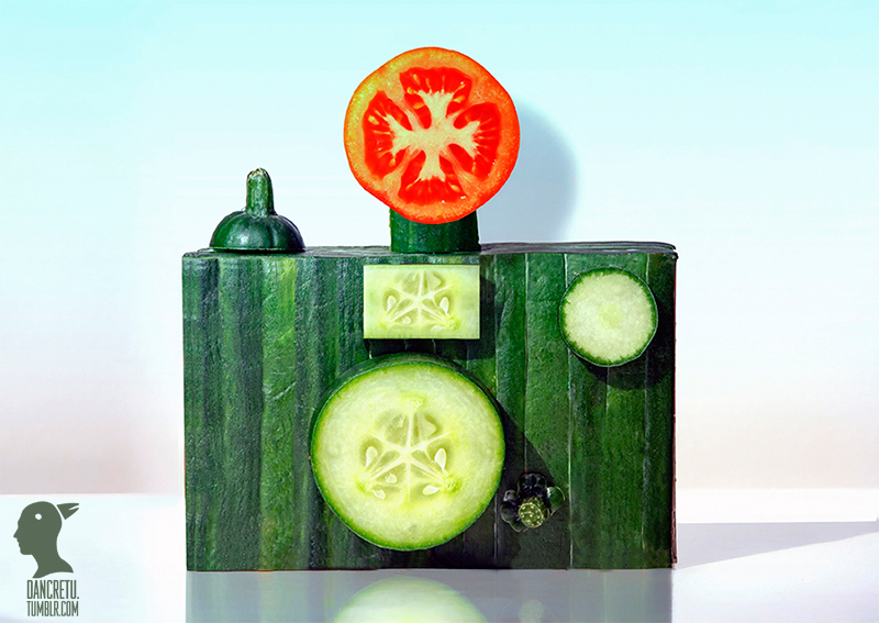Food Sculptures Made with Fruits and Vegetables by Dan Cretu (7 pics)