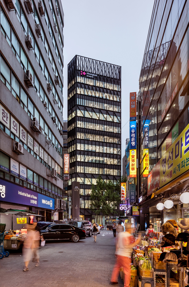 Namdaemun Office Building in Seoul by Mecanoo Architects