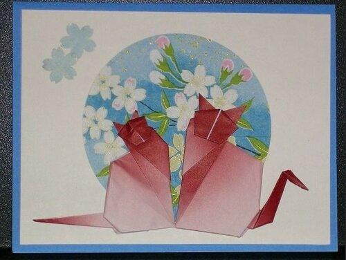 Поздравительные открытки с оригами
