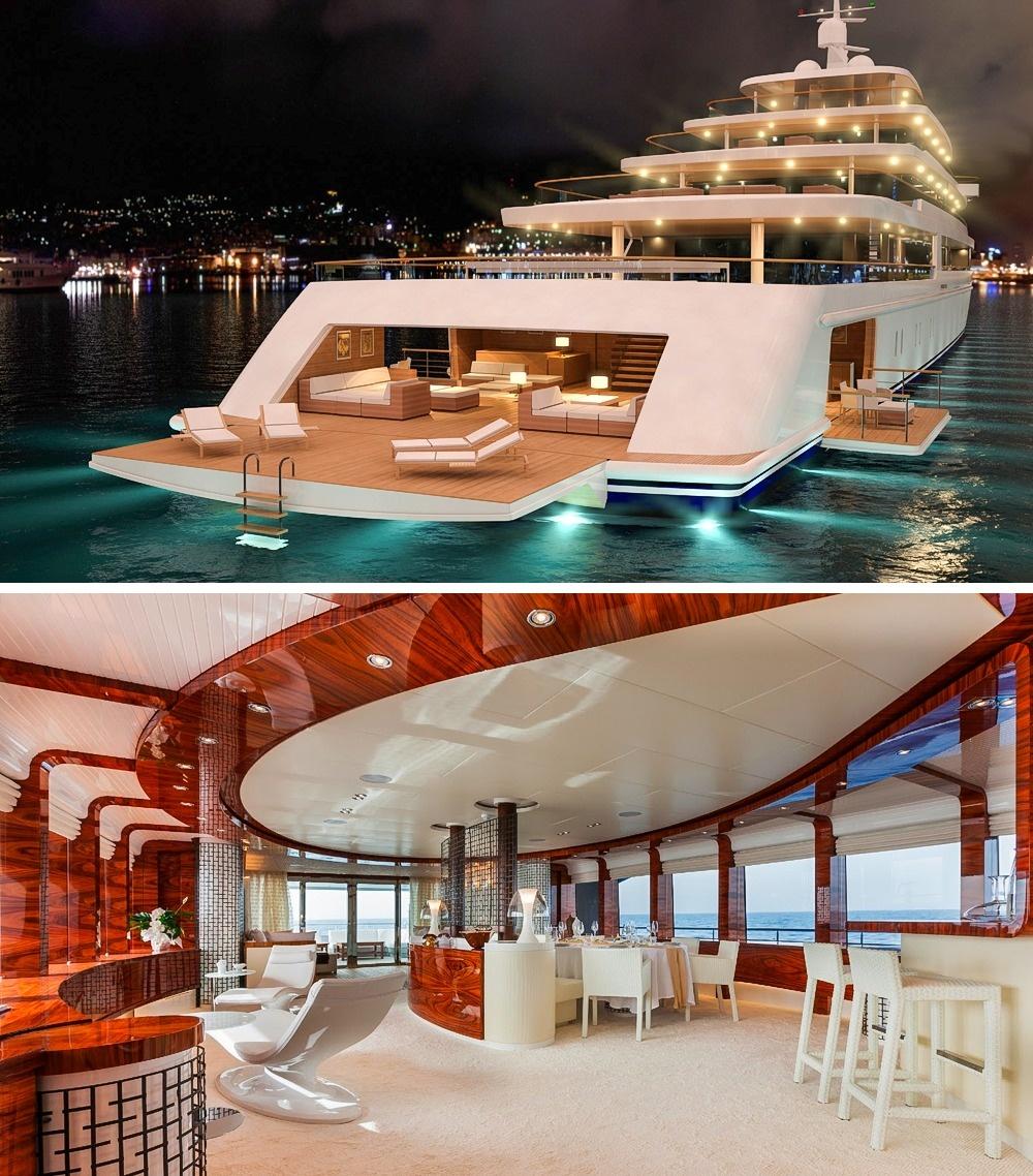 © yacht charter fleet  © yachtrus  Яхта «Аззам» (Azzam) в2013 году была самой большой я