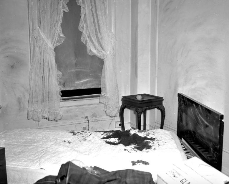 Место убийства Джэнис Уили и Эмили Хофферт, 1963 год.