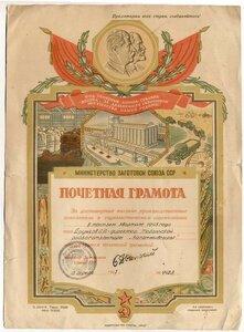 1947 г. Министерство Заготовок СССР