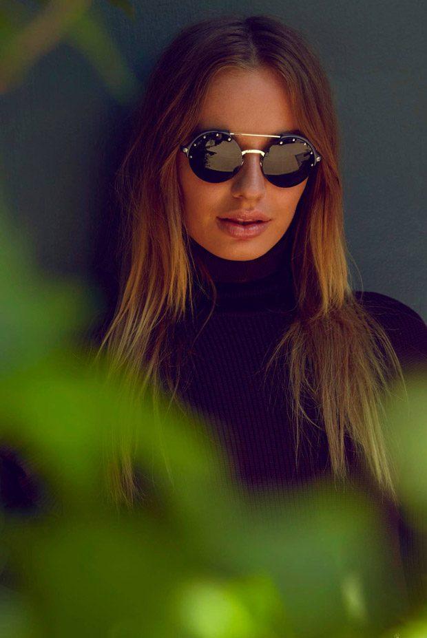 Sonya Esman Models Versace Summer 2017 #Frenergy Sunglasses