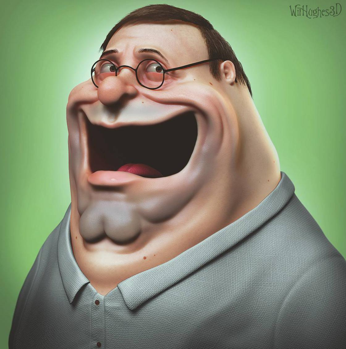 These 3D versions of Pop Culture icons are far too creepy