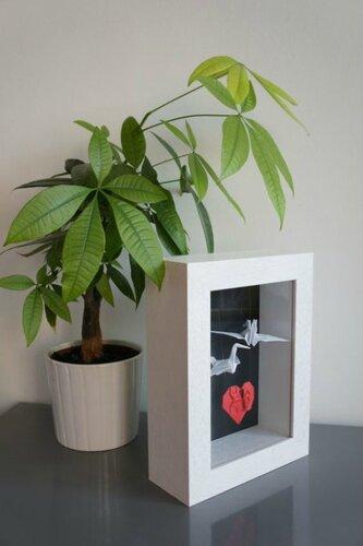 Журавли оригами в свадебном декоре