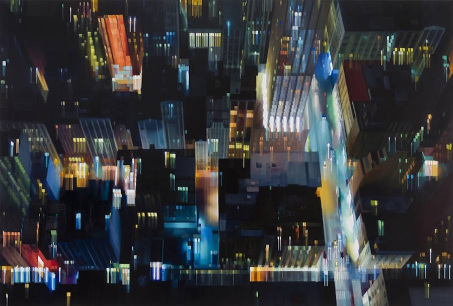 Hyperrealistic Paintings of Urban Nightscapes