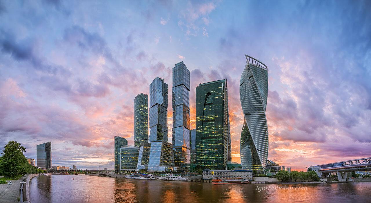Панорама с видом на Москва-сити